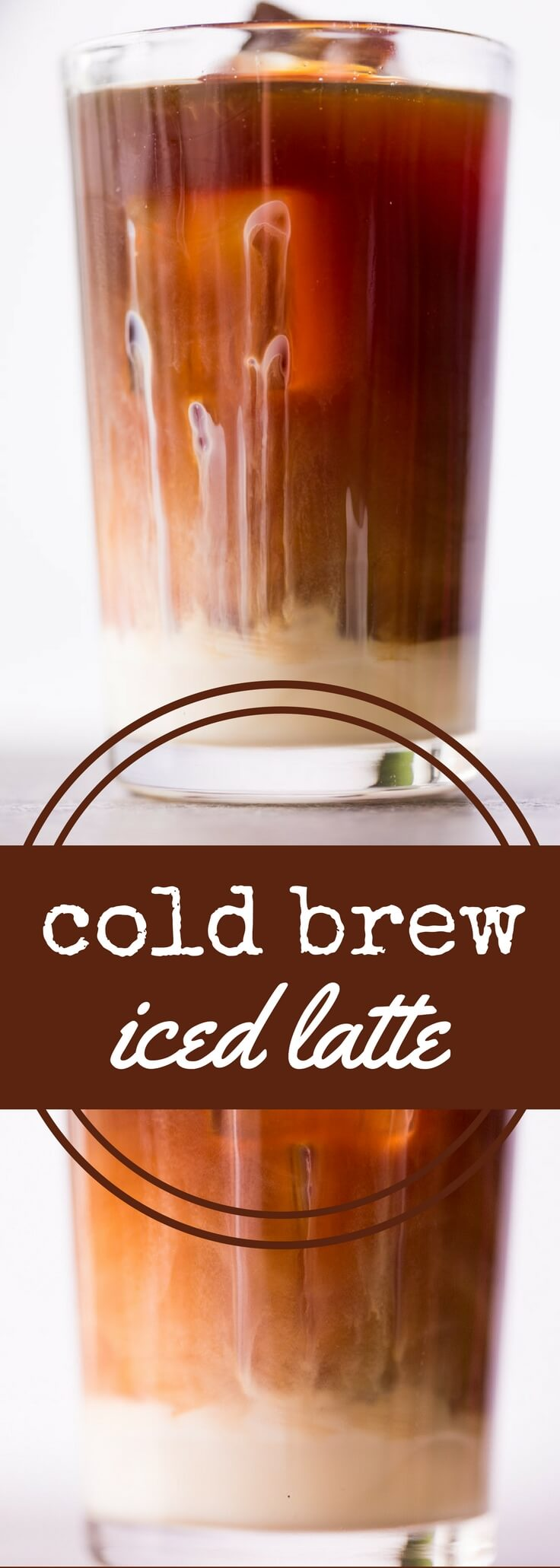 Smooth cold brew coffee combined with sweetened condensed milk makes a delicious iced latte!  This iced latte is especially refreshing during hot weather.
