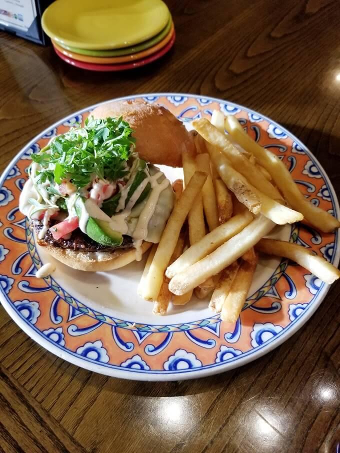 Confisco Grille Gluten Free Pico Avocado Burger