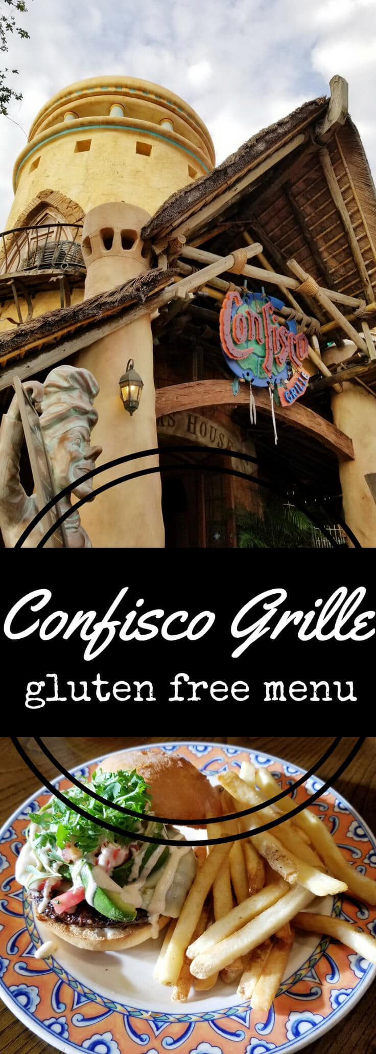 I dined gluten free like a queen at Confisco Grille in Universal's Islands of Adventure theme park.  Check out the Confisco Grille gluten free menu!