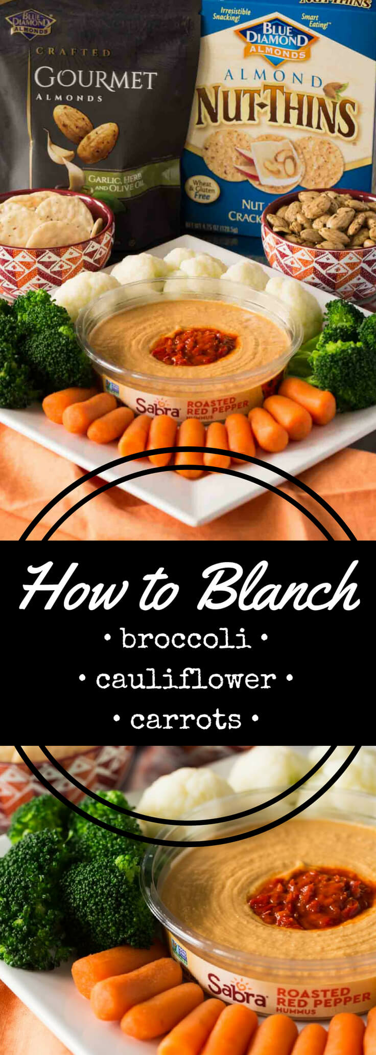 Learn how to blanch broccoli, cauliflower, and carrots for vegetable trays, crudités, and salad. Includes blanching, shocking, and serving instructions, plus vegetable tray ideas.