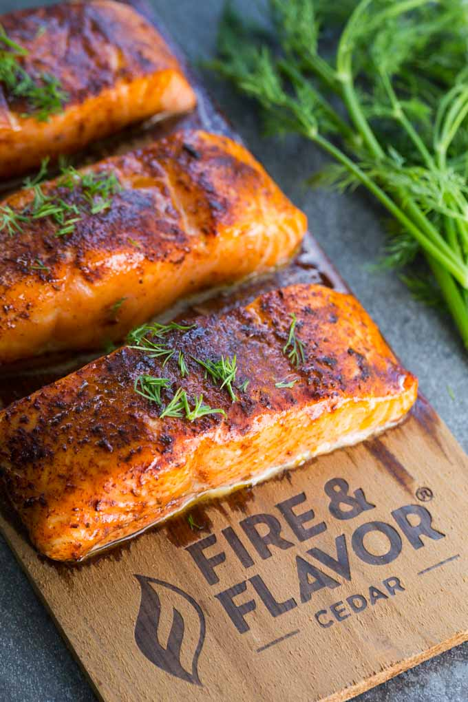 Cedar Plank Oven Salmon - Can you put cedar planks in the oven to cook salmon?  Yes, you can!  This cedar plank oven salmon recipe is delicious and easy to make.