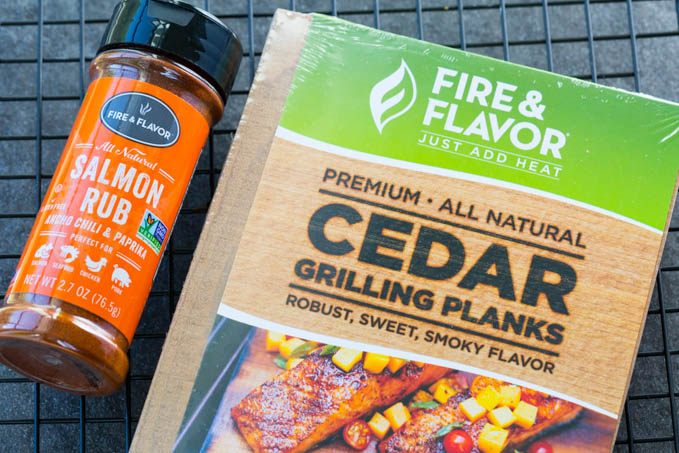 Fire and Flavor Cedar Planks and Salmon Rub