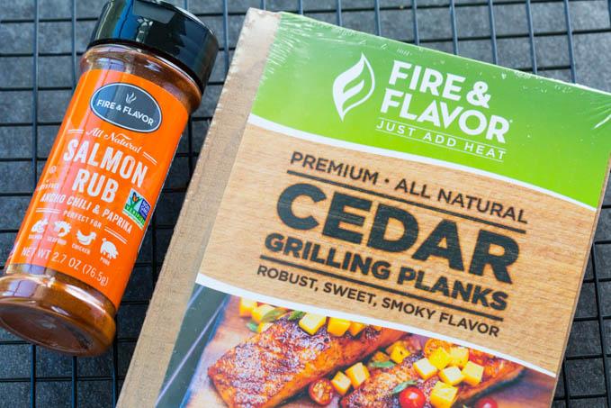 Fire and Flavor Cedar Planks and Salmon Rub