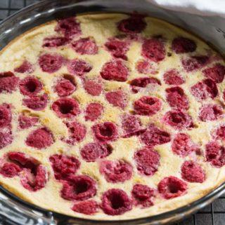 Raspberry Clafoutis (Gluten Free)