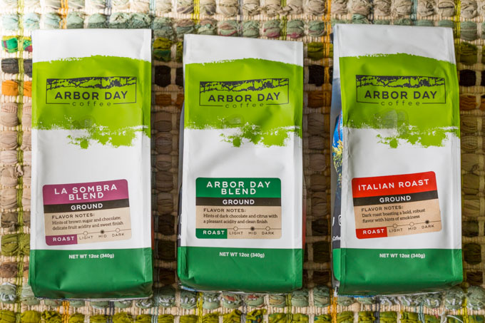 Bags of Arbor Day Coffee