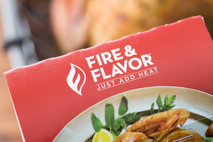 Fire and Flavor logo on turkey brine kit
