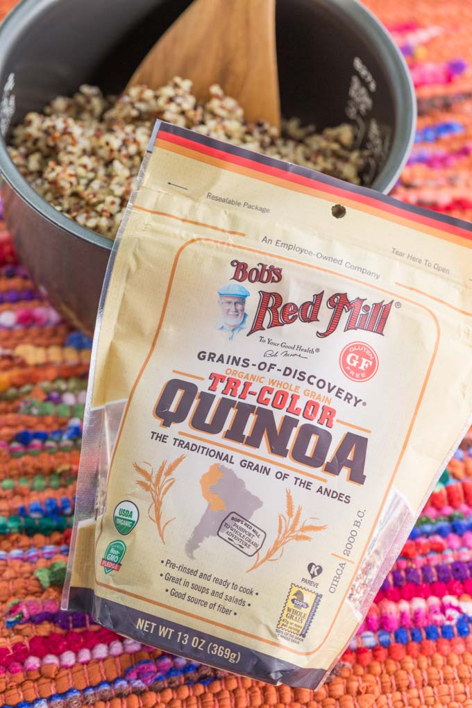Bag of Bob's Red Mill Tricolor quinoa