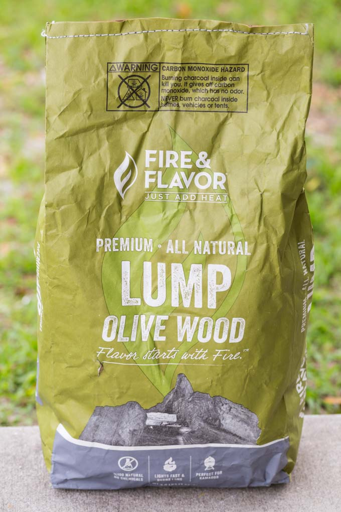 Bag of lump olive wood charcoal