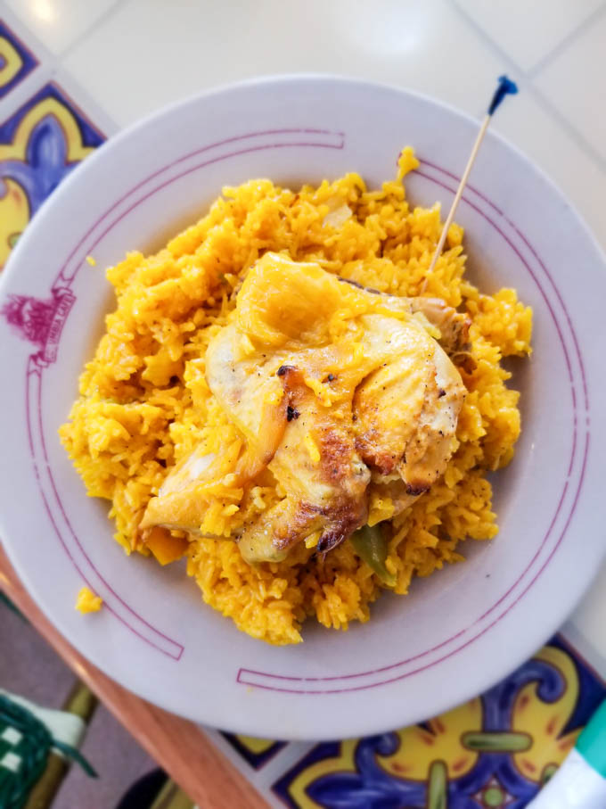 Gluten free Tampa dining - Chicken Valenciana at Columbia Cafe