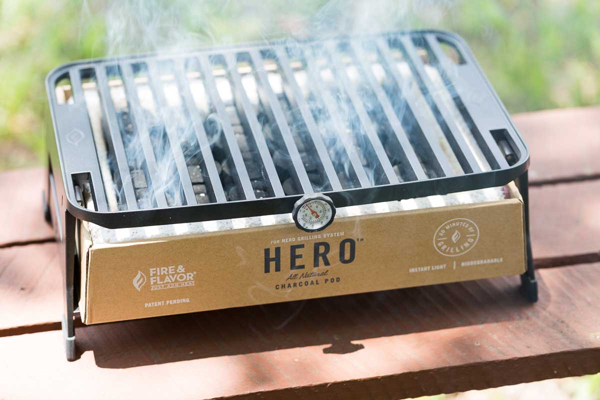 Best Portable Charcoal Grill - HERO Grill System