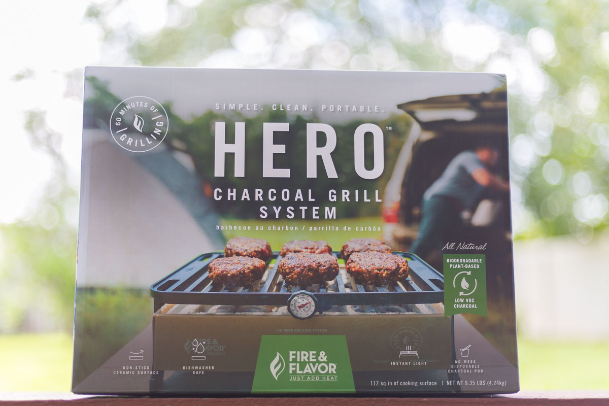 Box of the Hero Grill System - Best Portable Charcoal Grill